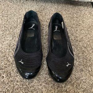 Puma Black Flats Size 7.5
